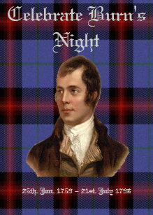 Burns night cards invitations zazzle burns night greeting card m4hsunfo