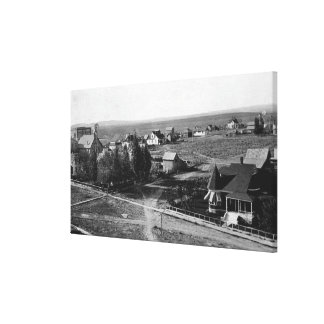 Burns, Oregon Town Birds Eye View Photograph Canvas Print
