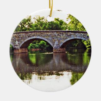 Burnside Bridge Antietam Round Ceramic Decoration
