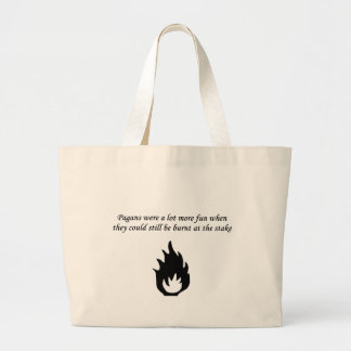 burnt at the stake jumbo tote bag