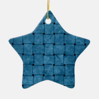Burnt Blue Weave Christmas Ornament
