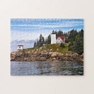 Burnt Coat Harbor Lighthouse, Swans Island Maine Jigsaw Puzzle