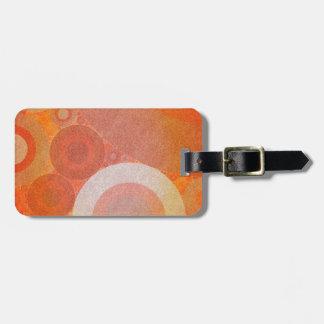 Burnt Faded Orange Retro Pattern Bag Tags