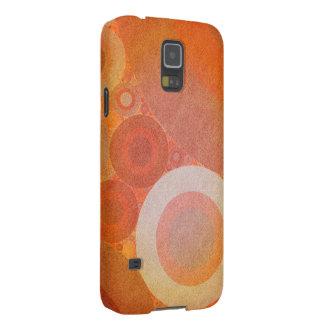 Burnt Faded Orange Retro Pattern Galaxy S5 Covers