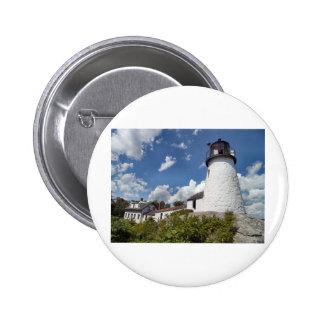 Burnt Island Light Maine Pinback Button