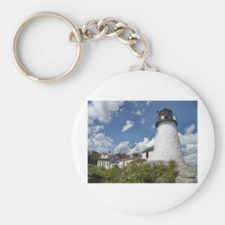 Burnt Island Light, Maine Keychain