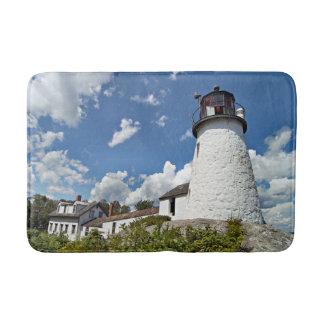 Burnt Island Lighthouse, Boothbay Harbor Maine Bath Mat