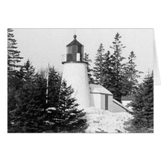 Burnt Island Lighthouse Card