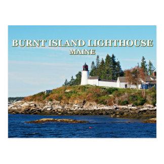 Burnt Island Lighthouse, Maine Postcard