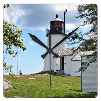 Burnt Island Lighthouse, Maine Wall Clock
