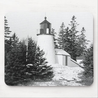 Burnt Island Lighthouse Mouse Pad