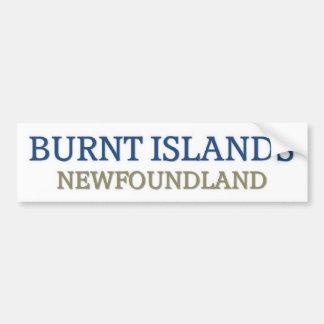 Burnt Islands Newfoundland Bumper Sticker