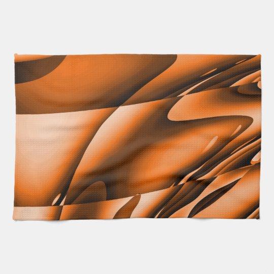 Burnt Orange Abstract Kitchen towel