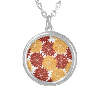 Burnt Orange and Orange Flower Blossoms Flora Custom Jewelry