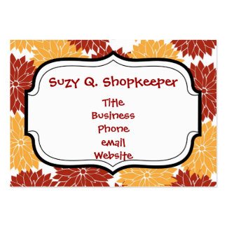 Burnt Orange and Orange Flower Blossoms Floral Pack Of Chubby Business Cards