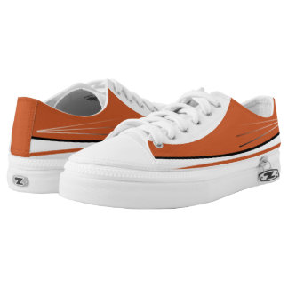 Burnt Orange and White Tres Lo-Top