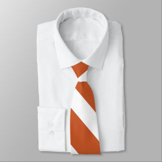 Burnt Orange and White University Stripe Tie