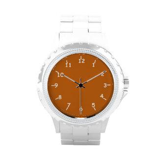 Burnt Orange and White Wristwatch
