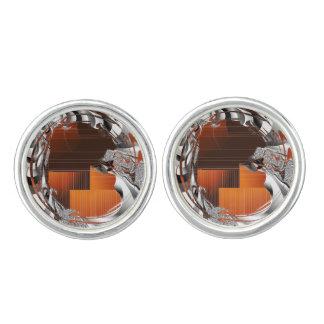 Burnt Orange Art Deco Cufflinks