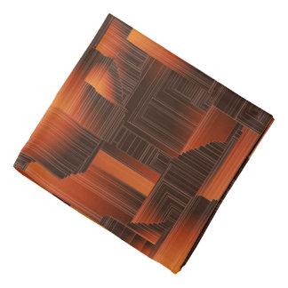 Burnt Orange Art Deco Head Kerchiefs