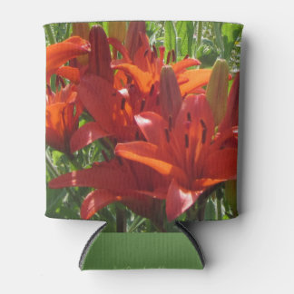 Burnt Orange Asiatic Lilies Can Cooler