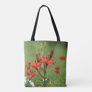 Burnt Orange Asiatic Lilies Tote Bag