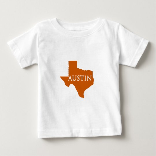 Burnt Orange Austin Texas Baby T-Shirt