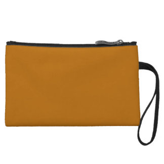 Burnt Orange Wristlet