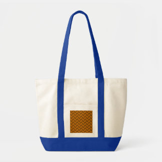 Burnt Orange Basket Weave 2 Impulse Tote Bag