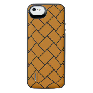 Burnt Orange Basket Weave 2 iPhone 6 Plus Case