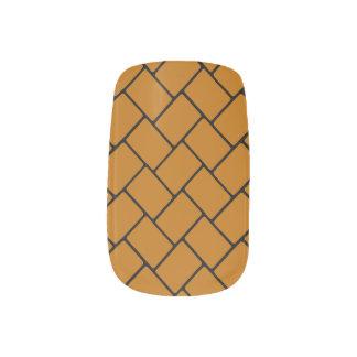 Burnt Orange Basket Weave 2 Nail Wrap