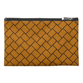 Burnt Orange Basket Weave 2 Travel Accessories Bag