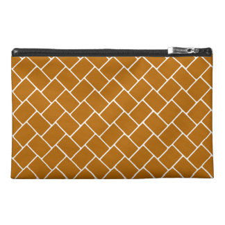 Burnt Orange Basket Weave Travel Accessories Bags