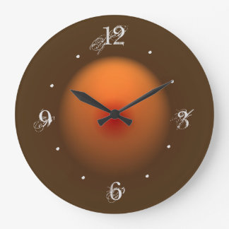 Burnt Orange/Brown Illuminated Design Wall Clock