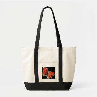 Burnt Orange Butterfly Tote Impulse Tote Bag