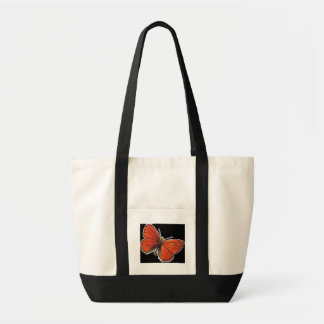 Burnt Orange Butterfly Tote Canvas Bags