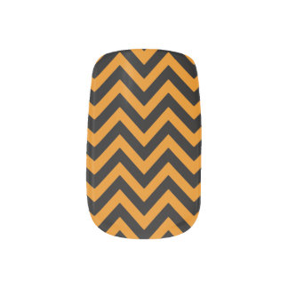 Burnt Orange Chevron 2 Nail Sticker