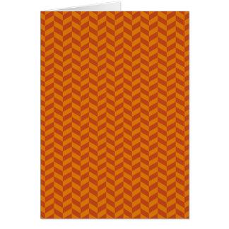 Burnt Orange Chevron Zig Zag Stripes Pattern Greeting Card