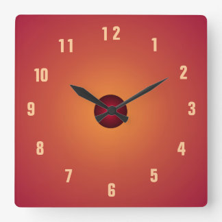 Burnt Orange Clock> Kitchen Clocks