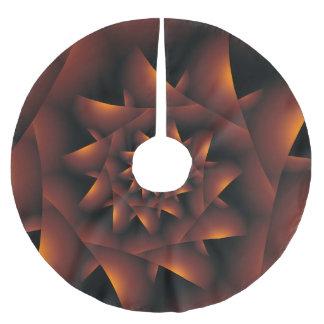 Burnt Orange Dark Spiral Fractal Tree Skirt