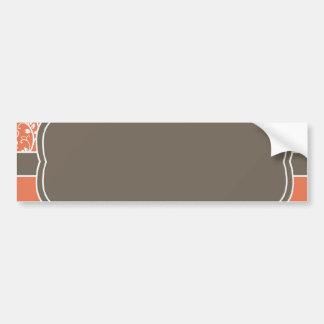 Burnt Orange Decor Party Invitation Bumper Sticker