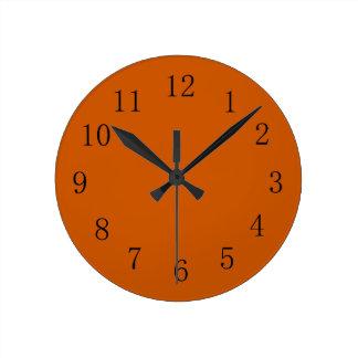 Burnt Orange Earth Tone Kitchen Wall Clock