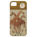 Burnt Orange Giraffes Gold Damask  iPhone Case iPhone 5 Covers