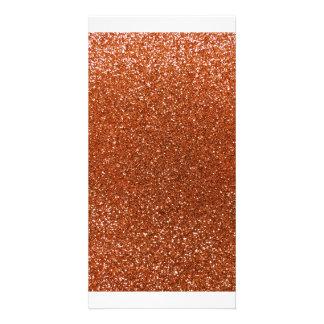 Burnt orange glitter photo cards