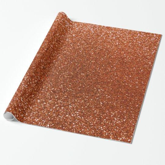 Burnt orange glitter wrapping paper