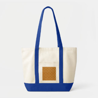 Burnt Orange Hexagon 1 Impulse Tote Bag