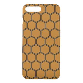 Burnt Orange Hexagon 3 iPhone 7 Plus Case
