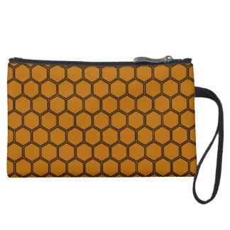 Burnt Orange Hexagon 3 Wristlets
