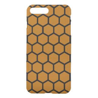 Burnt Orange Hexagon 4 iPhone 7 Plus Case