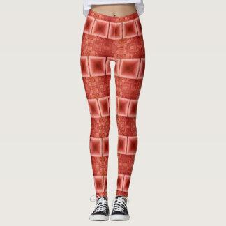 Burnt Orange Horizontal Striped Leggings